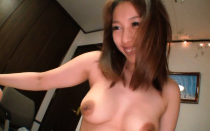 Japanese av model. Japanese AV Model strokes and blowjob cock before enjoying drilling