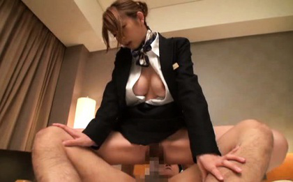Japanese av model. Japanese AV Model with big hooters out of uniform rides joystick